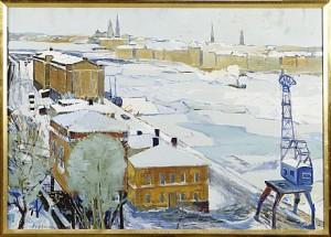 Vy över Stockholm by Åke JOHANSSON