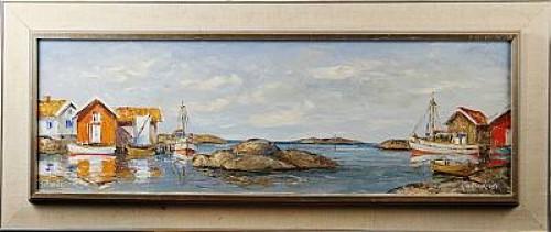 Kustlandskap by Kurt-Erik HEINONEN