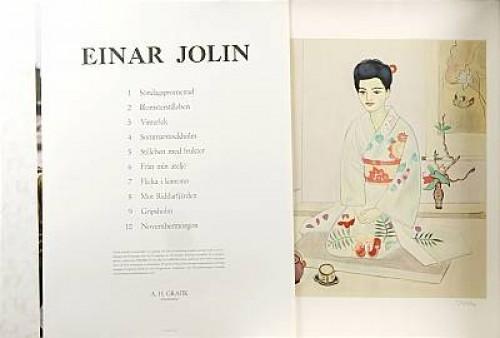 Mapp Med 10 Litografier, 8 Signerade Jolin, 2 St. Stämpelsignerade by Einar JOLIN
