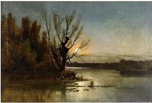 Sunset Over The Lake by Karl Ioganovich ROSEN