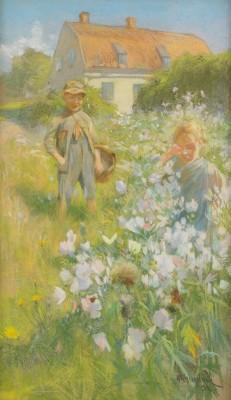 Barn På Blomsteräng - Högsommar by Alf WALLANDER