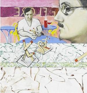 La Rencontre Au Café De Flore - James Joyce Och Picasso by Michael FARRELL