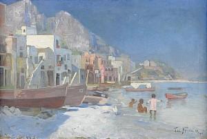 Hamnen Capri by Valdemar NYSTRÖM