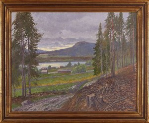 Sommardag, Motiv Från Skottsund by Oscar LYCKE