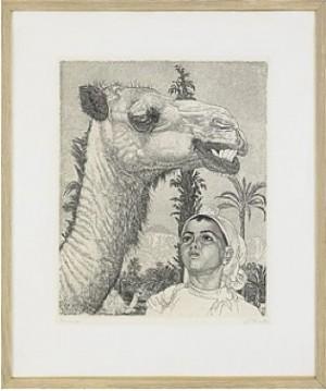 Berber Girl With Camel - Berberi Tüdruk Kaameliga by Eduard WIIRALT
