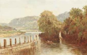On The Thames, Quarry Wood, Near Marlow by George Hyde POWNALL