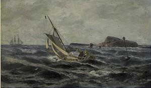 Lotsbåt På Böljande Vågor by Christian Fredrik SWENSSON