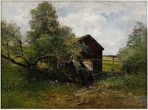 Landskap Med Vattenkvarn by Severin NILSON