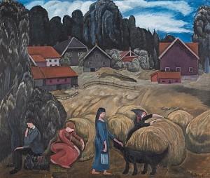 Bondgård by Rudolph THYGESEN