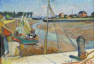 Ebb I Fiskehamnen by Francois GALL