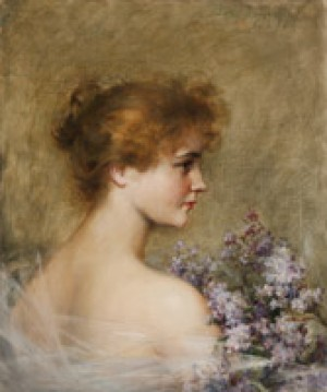 ''lettice Fairfax'', Portrait Of The Actress by Carle John BLENNER