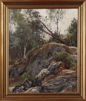 Skogsmotiv by Lindorm LILJEFORS