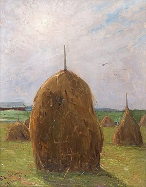Haystacks by Edvard WESTMAN