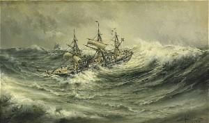 Skepp På Stormigt Hav by Herman Af SILLÉN