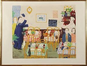 Restauranginteriör 1975 by Lennart JIRLOW