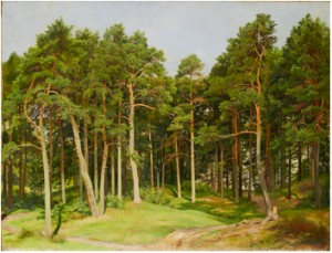 Forest Clearing, Meriküla by Ivan Ivanovitch SHISHKIN