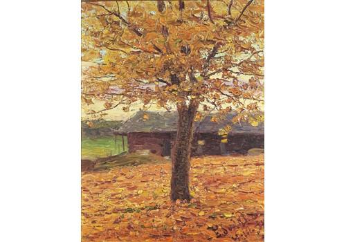 Höstlandskap Med Träd by Edvard WESTMAN