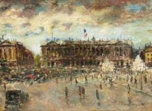 Place De La Concorde by Konstantin Alexeievich KOROVIN