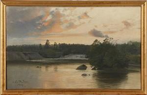 Insjölandskap by Alfred THÖRNE
