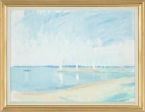 Sommar Vid Sundet by Gustav RUDBERG