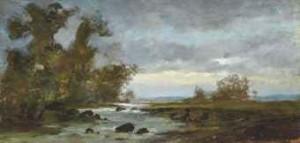 L'étang De L'estagnol by Gustave COURBET
