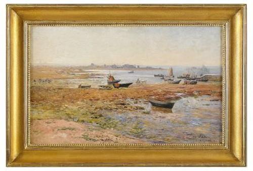 Fiskebåtar Vid Saint Guénolé by Alfred WAHLBERG