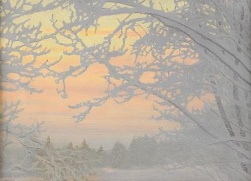 Kall Vinterafton - Frost På Träden by Gustaf FJÆSTAD