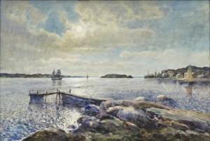 Skymning över Vattnet, Lysekil. by Anna GARDELL-ERICSON