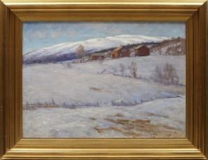 Vinterlandskap by Anton GENBERG