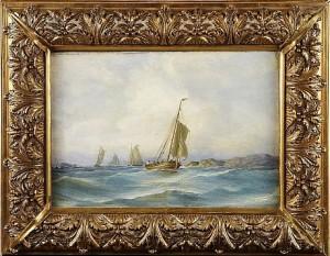 Fiskarbåtar by Per Wilhelm CEDERGREN