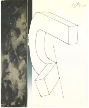 Bent U, From Fragment - According To What by Jasper JOHNS