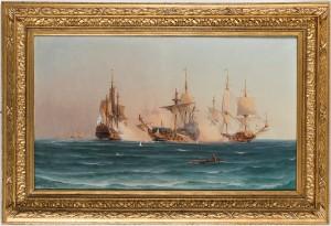 Sjöslaget Utanför Sandhamn Den 24 Maj 1719 Mellan 40-kanonskeppet
