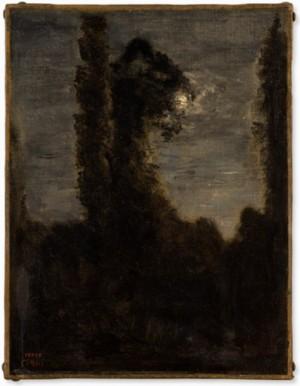 Peupliers Au Bord De L'eau', 1860-65 by Jean Baptiste Camille COROT