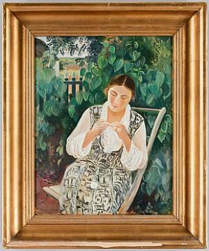 Kvinna Med Handarbete by Arthur PERCY