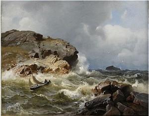 Stormigt Hav by Hans Fredrik GUDE