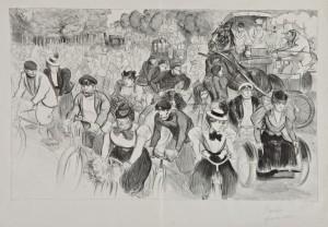 Cyclistes Sur Les Grands Boulevard by Théophile Alexandre STEINLEN