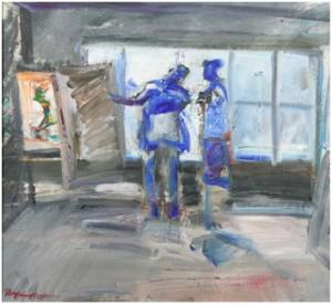 Blå Figurer by Rolf Erling NYGREN