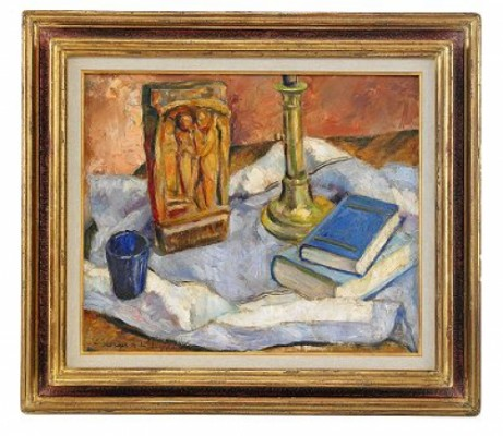Still Life With Books by Georges Anatolievich POGEDAIEFF