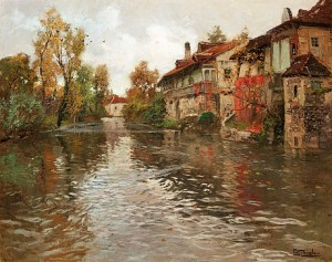 Längs Floden, Beaulieu by Frits THAULOW