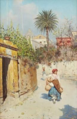 Street In Capri by Giuseppe GIARDIELLO