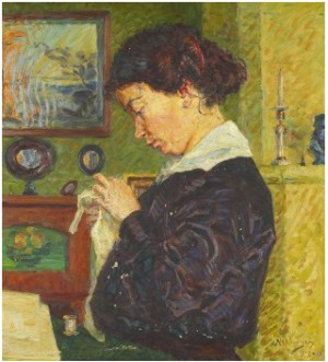 Porträtt Föreställande Bessie (konstnärens Dotter) by Nils KREUGER