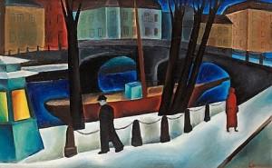 Vinterpromenad Vid Nissan by Waldemar LORENTZON
