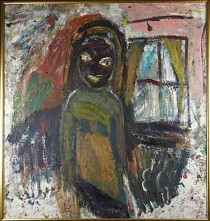 Kvinnofigur Vid Fönster by Erland CULLBERG