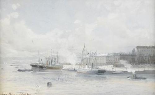 Utsikt Mot Stockholms Slott by Anna PALM DE ROSA