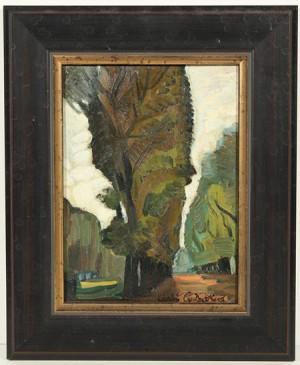 A Row Of Trees by Sergei Yurievich SUDEIKIN