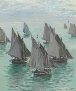 Bateaux De Pêche, Temps Calme by Claude MONET
