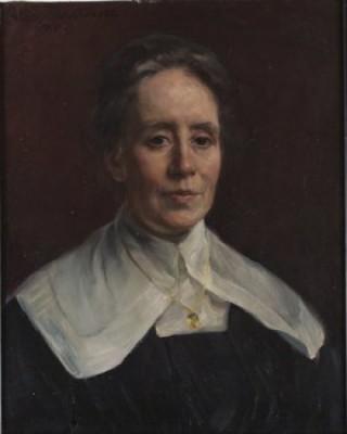 Porträtt Föreställande Fanny Brate by Hildegard THORELL