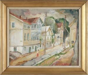 Långgatan I Marstrand by Josef LINDSKOG
