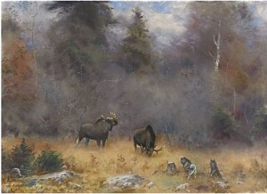älgar Och Gråhundar by Lindorm LILJEFORS