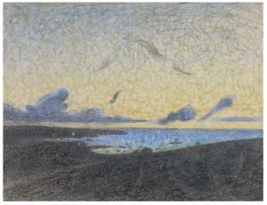 Aftonmoln. Motiv Från Utö by Richard BERGH
